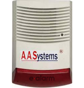 AAS 303 RE Εξωτερική σειρήνα με Flash AA SYSTEMS Εξωτερικές σειρήνες με κόκκινο Φλας