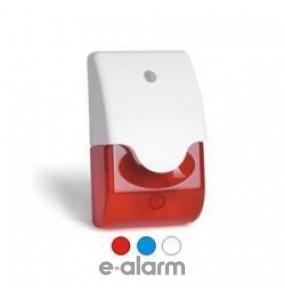 Ηλεκτρονική σειρήνα σε polycarbonate περίβληµα µε ενσωµατωµένο φλας (4 λαµπάκια) LIGHTAK EM103 RED