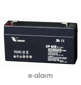 Μπαταρία συναγερμού κεντρικής μονάδας 6V 1,2Ah VISION EUCP1.2-6