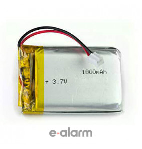 EUILP-366573 Επαναφορτιζόμενη Μπαταρία Λιθίου 3.7V 1800 mAh με PCM & Καλώδιο E-ALARM Μπαταρίες Λιθίου Για Πολλές Χρήσεις Υψηλής Ενέργειας