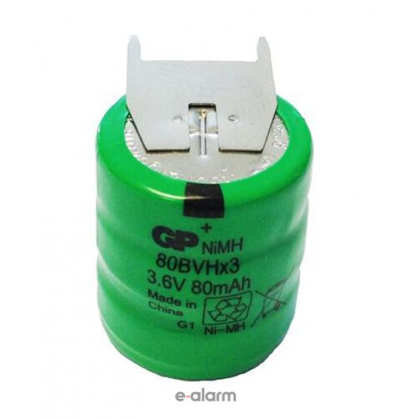 Επαναφορτιζόμενη Μπαταρία με λαμάκια BVH 80 mAh 3.6V NiMH GP Batteries EUPP80BVH3A3H Μπαταρίες Σε Πακέτο Των 3 Για Πολλές Χρήσεις