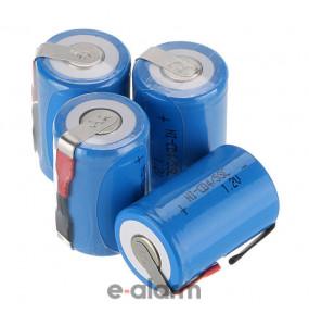 EUVRESC16002 Επαναφορτιζόμενη μπαταρία PACK 2.4V 1600 mAh Sub-C NiCD E-ALARM Μπαταρίες επαναφορτιζόμενες για σκουπάκια