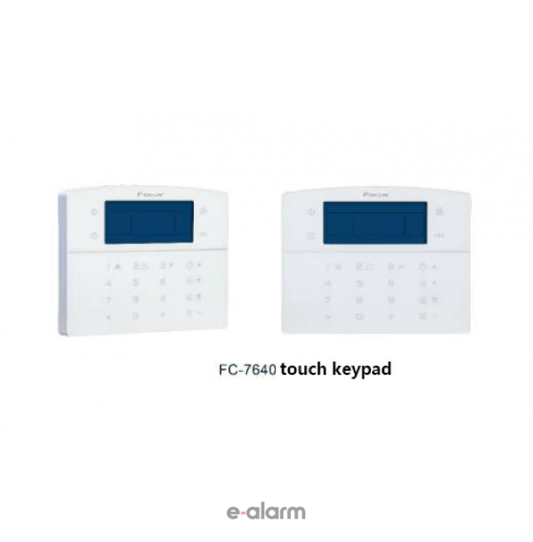 FC-7640LCD-T Πληκτρολόγιο αφής για πίνακες FC7640 FOCUS Πληκτρολόγια αφής