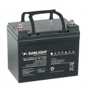 Μπαταρία Φωτοβολταϊκών 12V 33Ah Sunlight AccuForce 12-33AH S 800 Κύκλοι Εκφόρτισης
