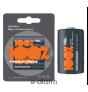 Αλκαλικές Μπαταρίες LR20 D Peak Power PPALR20-B2 Μεγάλη Διάρκεια Ζωής