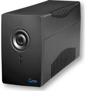 PC615N/2000VA Line Interactive, με ενσωματωμένο σταθεροποιητή τάσης AVR και θύρα επικοινωνίας Usb E-ALARM Line Interactive
