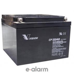 Μπαταρία μολύβδου 12V 24Ah VISION EUCP24-12