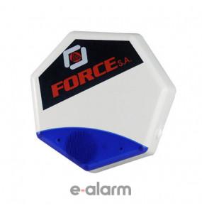Αυτόδυναμη σειρήνα εξωτερικού χώρου 116dB με τύπωμα FORCE CQR PROTECTA FORCE